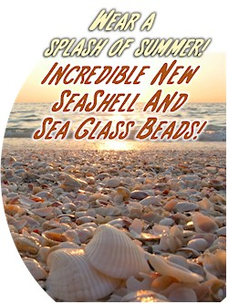 New Seashell Beads and Pendants!